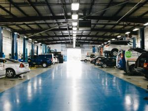 Chevy dealer service bays